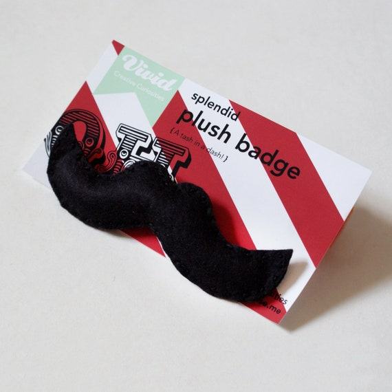 Black Moustache Badge