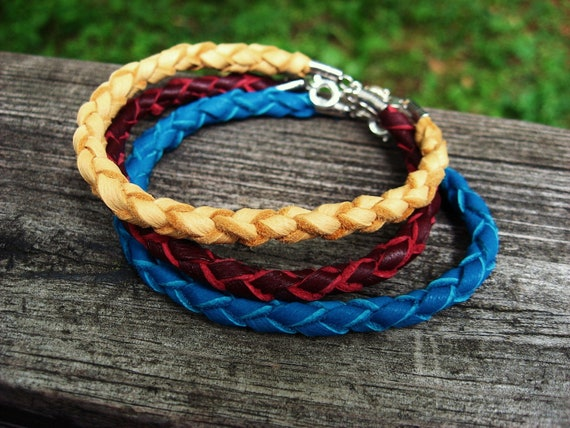 RESERVED for Lynnae - round baided leather bracelets