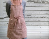 Cotton Ticking Apron No. 2 7-10 Day Production Time Will Not Arrive by Christmas
