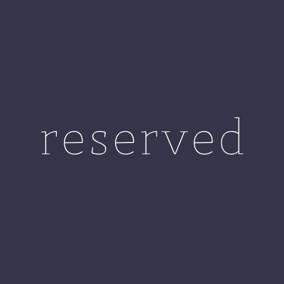 reserved for valdies