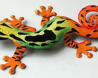 Metal Art Gecko Wall Decor Haitian Art Tropical Design