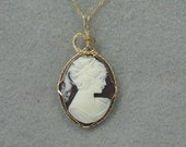 Vintage Cameo and Goldfilled Pendant