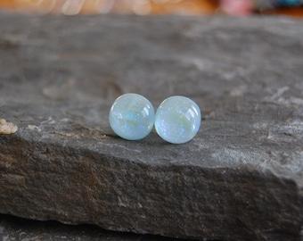 Dichroic Glass Stud earrings