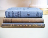 3 Vintage French Books