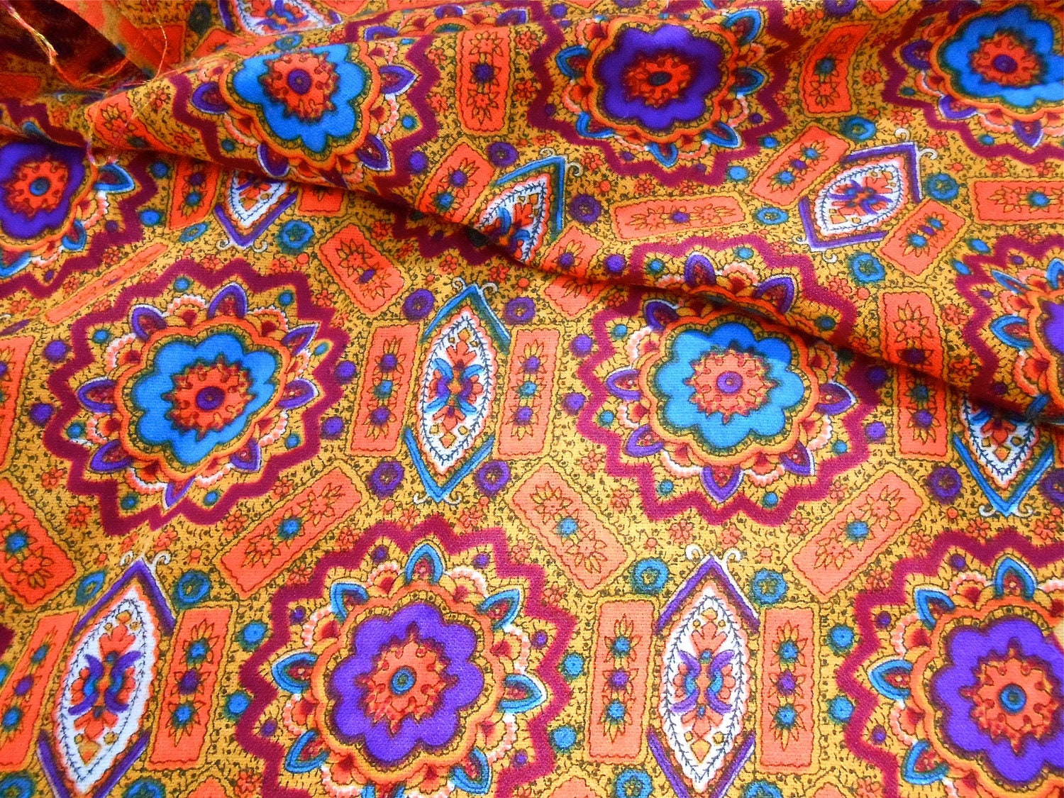 Vintage fabric mod moroccan for Vintage fabric