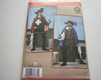 Pattern Costume Men Musketeers Sizes  L-XL Simplicity 2334 A