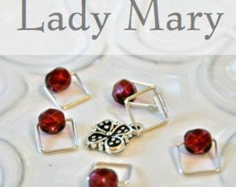 Lady Mary, Downton Abbey . . . Stitch Marker Set