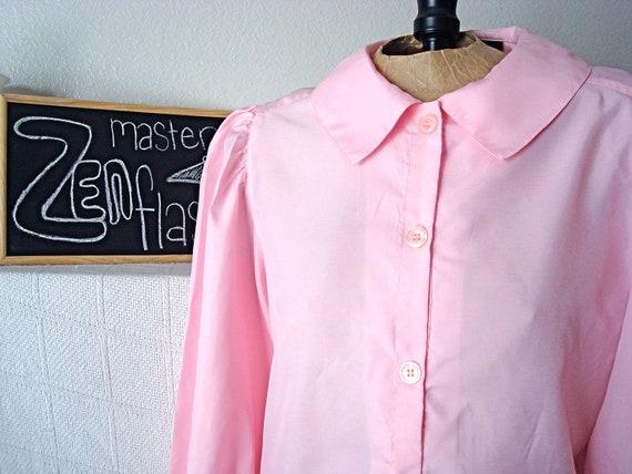 Precious Pink Peter Pan Collar Blouse