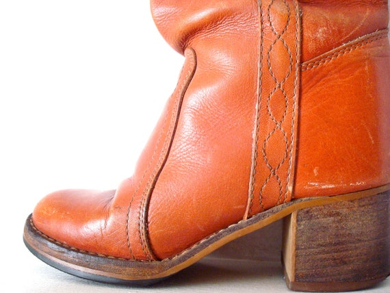 70's Brown Leather Boots