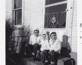 Hoodies on the Step - Vintage Photograph, Vernacular, Snapshot (J)