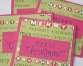 Merry Christmas Mini Note Cards - Set of 4