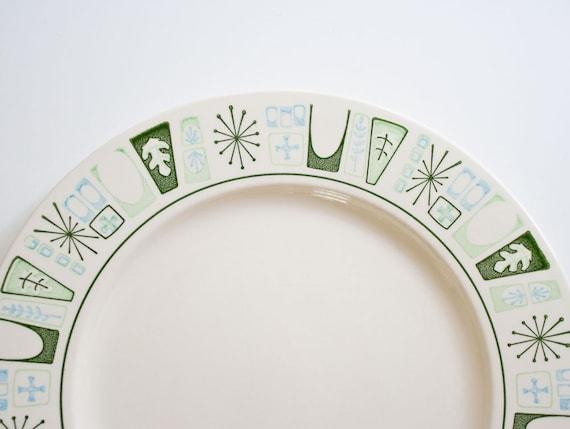 Vintage Mid Century Atomic Cathay Dinner Plates
