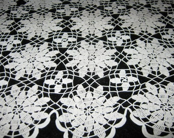 Vintage Doily  Ecru Colored By Gatormom13 JUST REDUCED