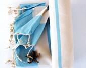 Blue NATURAL Cotton Eco Friendly PESHTEMAL Bath Beach Towel High Quality Turkish Cotton Bath,Beach,Spa,Yoga,Pool Towel