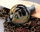 Lotis Vessel - Handmade Lampwork Heart Focal Bead By Sra Artist Payton Jett