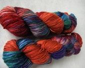 Superwash Merino Nylon Stellina Sparkly Fingering - Calypso Sock - Evil Twin OOAK