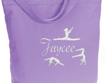 Personalized Lavender ECO Recycled Poly Tote Bag, Ballet, Dance, Gymnastics, Acro