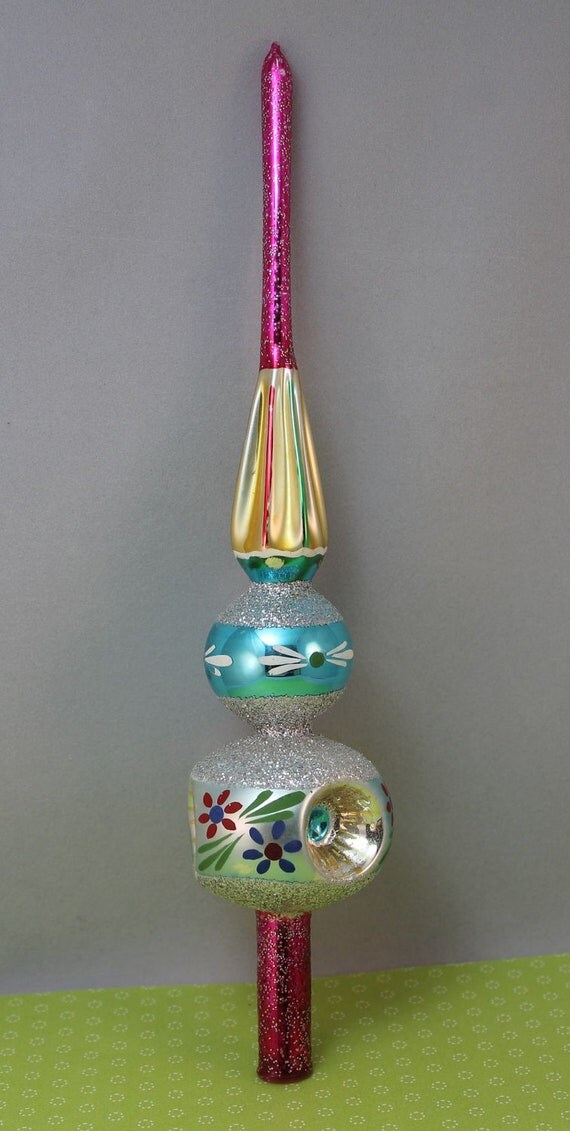 Tree Topper Christmas Glass Tree Top Santa Land Poland