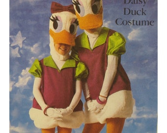 "Daisy Duck Costume Pattern Walt Disney, Mask Hood, Shoes, Shirt, Rompers, Simplicity No. 7734 Size Child 2-4 (Chest 21-23""53-58cm)"