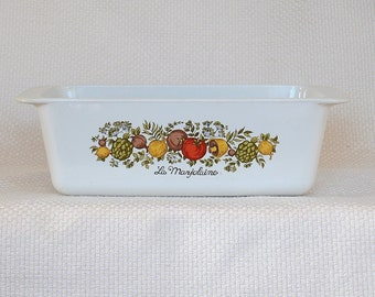 Vintage Corning Ware Loaf Pan Vintage Spice O' Life Loaf Dish in EXCELLENT condition P-315-B circa 1972-1987