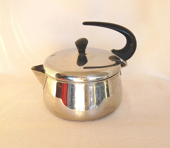 Vintage farberware 8 cup stainless steel tea kettle teakettle - Cup stainless steel teapot ...
