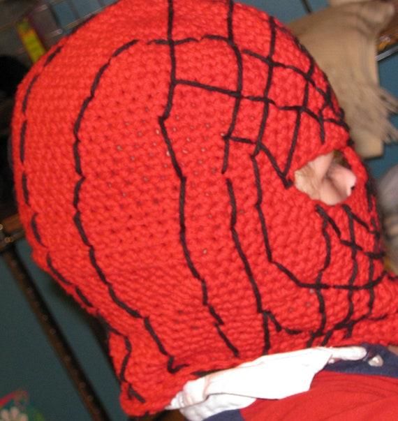 Crochet Pattern Spider-man mask, balaclava, hood, face ...