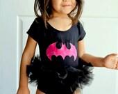 Bat Girl Tutu Bodysuit Superhero Costume Toddler Baby Girl Halloween