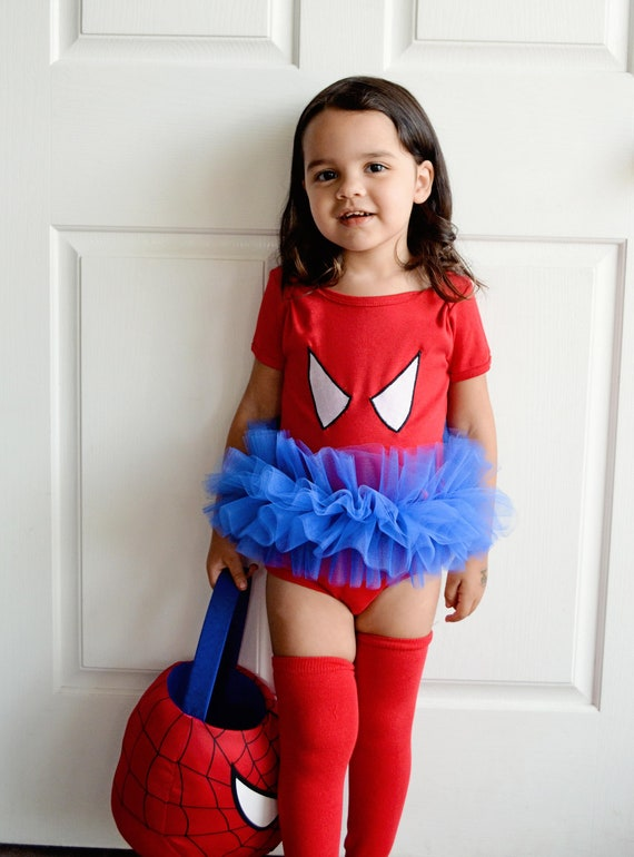 Spider Girl Tutu Bodysuit Superhero Costume Toddler Baby Girl  sc 1 st  Meningrey & Cute Girl Spider Costume - Meningrey