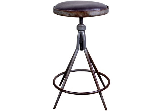 RESERVED for RBV Industrial Drafting Stool Mid Century