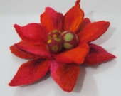 SALE Felt brooch Fiery flower Eco-friendly  gift idea for women