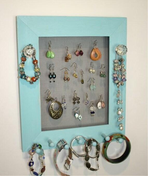 Jewelry Holder Organizer Glass Swirl Knobs.