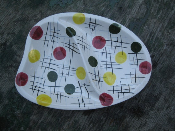 1950s Moderne ASHTRAY CANDY DISH Abstract Design English