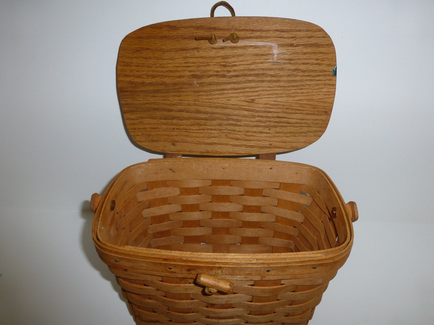 Handmade Baskets From Ohio : Vintage longaberger basket of dresden ohio by
