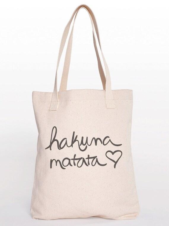 Hakuna Matata Cotton Shopping Bag Canvas Tote