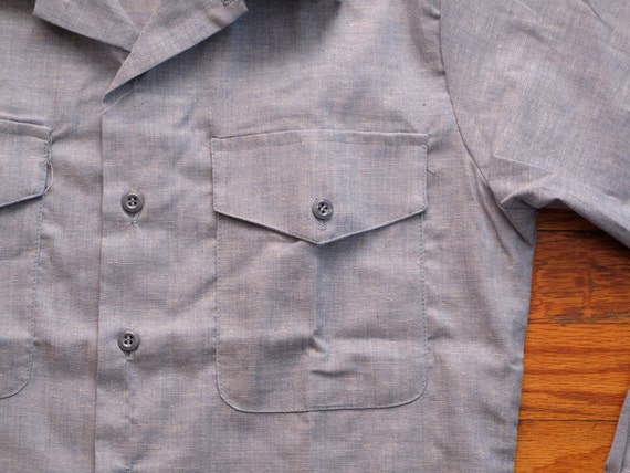 mens vintage navy issue chambray shirt