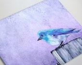 Bluebird Bliss Art Card - Bird Fine Art Painting