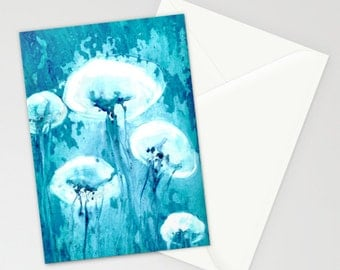 Jellyfish Art Card Ocean Life Water Painting