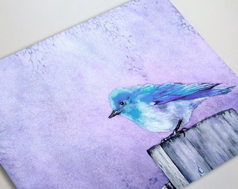 Bluebird Bliss Art Card - Bird Fine Art Painting
