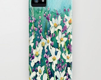 Floral iPhone 7 Case - Dancing Daisies Wildflowers - Designer iPhone Samsung Case
