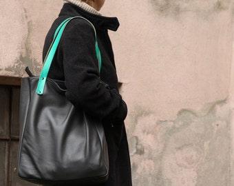 FOKS FORM Tote Bag 04, Minimal leather tote bag, handbag, shoulder bag