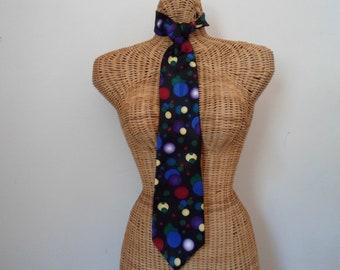 After Dark Flying Toasters Spheres Necktie Geek Classic 100% Silk