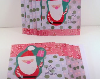 Set of 12 Christmas Cards: A Time to Share