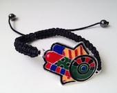 Adjustable Brito Inspired Colorblock Hamsa Hand Bracelet