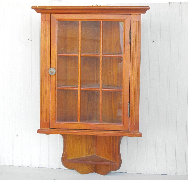 Corner Hanging Cabinet Wooden Wall Hanging Corner Cabinet Curio Display