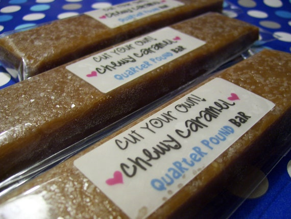 Cut Your Own - Salted Chewy Caramels - Quarter Pound