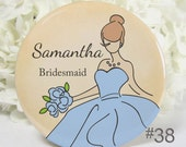 Pocket Mirrors - Bridesmaid Gifts - Wedding Party Favors Personalized