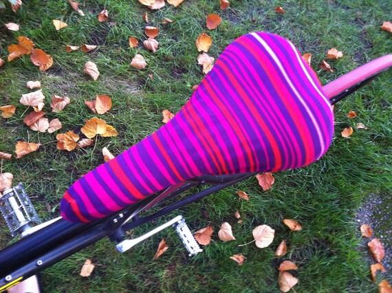 Saddle Cover Purple Pink Stripe