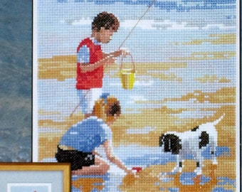 Sea and Sand - Heritage Stitchcraft's Memories Counted Cross Stitch Design