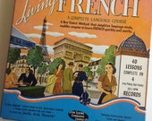 """Vintage """"Living French"""" Language Course on Vinyl"""