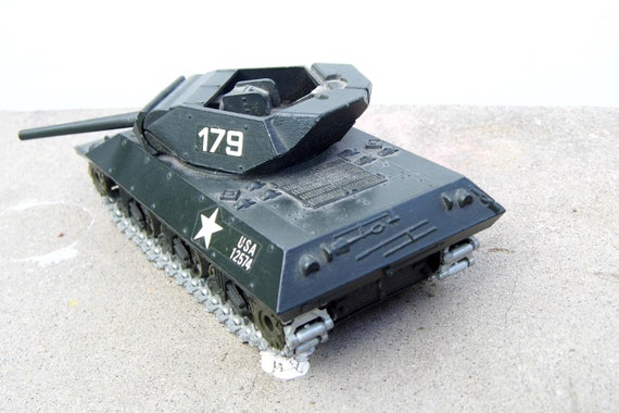 Vintage Solido Army Tank, Mid Century Metal Tank, Solido Tank, Army Tank, 1970s, Collectible Toy